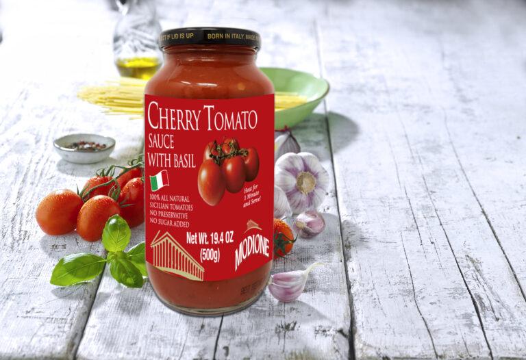 Cherry Tomato sauce with basil 25 oz