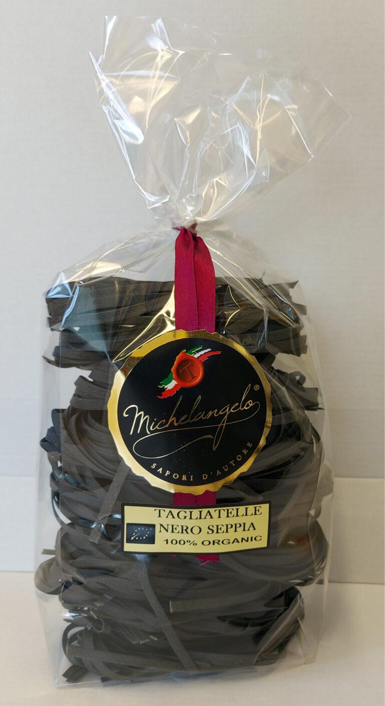 Tagliatelle al nero di seppia 100% organic - oz 17,63